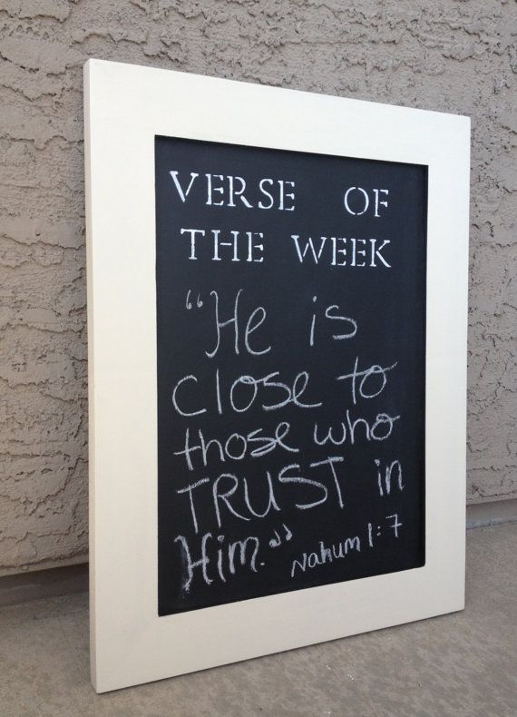 H A N D M A D E // Verse of the Week Chalkboard by BetsysWood  (on ETSY)
