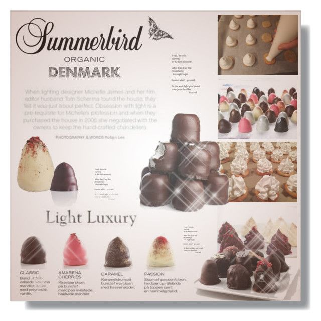 """Danish ""flødeboller""!"" by dittestegemejer ❤ liked on Polyvore featuring interior, interiors, interior design, home, home decor, interior decorating, chocolate, holidays, hostessgifts and cantbetranslated"