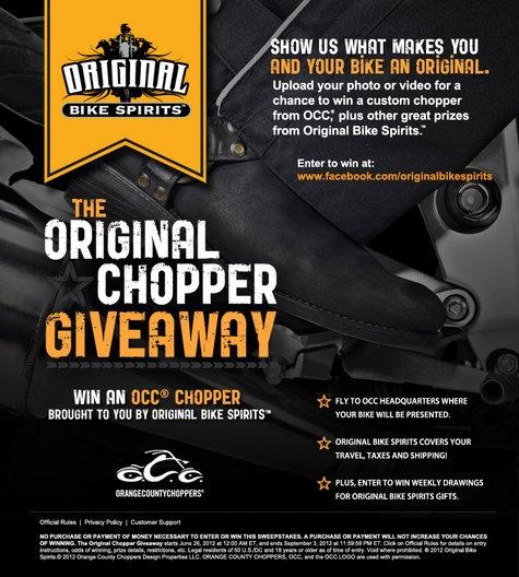 Original Bike Spirits, OCC, Orange County chopper Give Away  http://www.originalbikespirits.com/Performing Bikes, Muscle Bikes, Bikes Spirit, Originals Bikes, Hottest Bikes