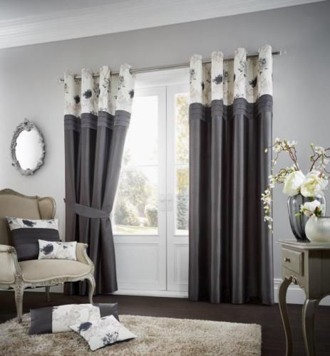 Koh Grey Lined Eyelet Curtains – Linen and Bedding