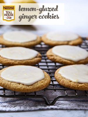 Lemon-Glazed Ginger Cookies