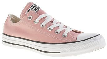 Womens pink beige converse peach cons as ox trainers from Schuh - £45 at ClothingByColour.com