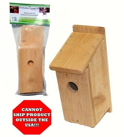 Chickadee Bird House Kit. This cedar bird house kit follows simple instructions to build, by yourself or with the kids. American made.