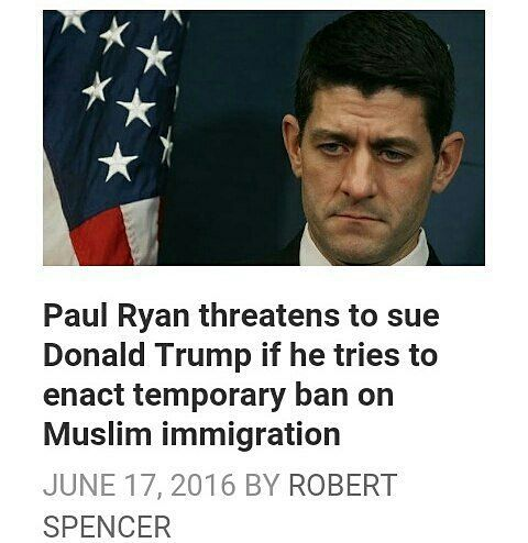 @Regrann from @berkeleytown -  Paul Ryan and the Republican establishment seem determined to do two things: to elect Hillary Clinton President of the United States this November and to make sure that nothing impedes the huge influx of Muslim migrants into the U.S.  Yet San Bernardino shooter Tashfeen Malik hadpassed five separate background checksfrom five separate US government agencies.Ahmad al-Mohammed and one other of the jihadiswho murdered 130 people in Paris in November 2015 had just…