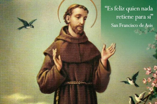 Biografía y vida de San Francisco de Asis, fundador de la orden de los Franciscanos. Inspiración del Papa Francisco. :: SerFelices.org