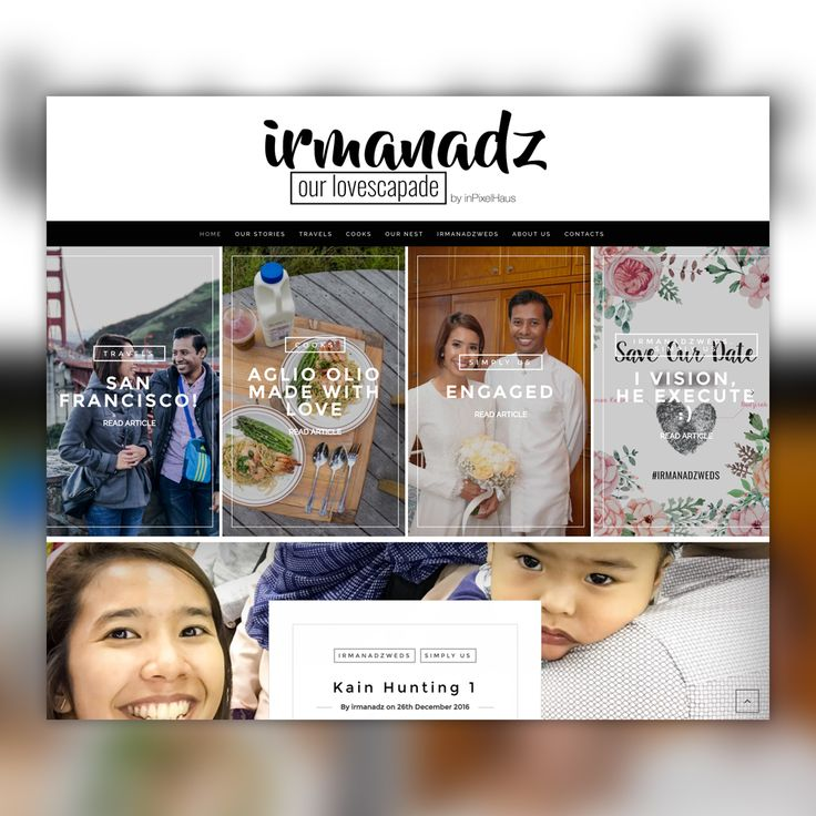 Web Design and Development for irmanadz.com, revamped after 3 years. #inpixelhaus #webdesign #webdevelopment #graphicdesign #singapore #blog #travel #travelblog #irmanadz