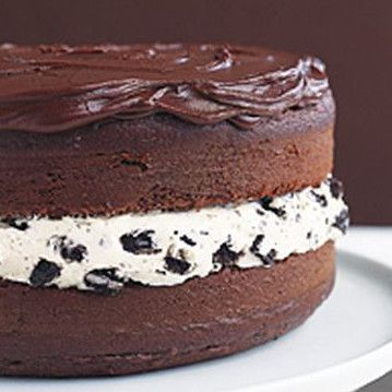 This great-tasting cake looks like a giant Oreo cookie. Recipe courtesy of Kraft Foods.