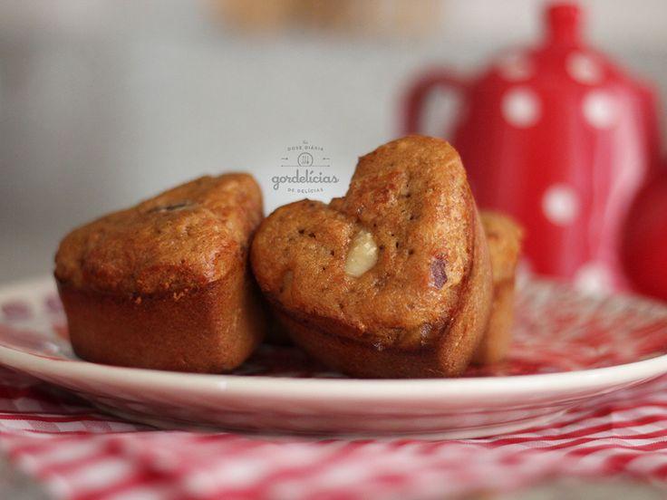 Muffins de Mel e Castanha. Receita incrível para preparar no fim de semana - http://gordelicias.biz.