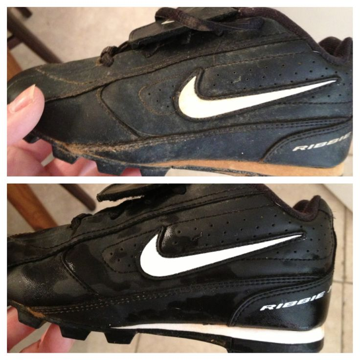 Apparently a well known baseball thing but as a new t-ball mom found it helpful - Use Scrubbing Bubbles to clean baseball cleats. Tools less than five minutes. Sprayed it on, used a brush to rub everything off and rinsed them in the sink.