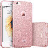 iPhone 6 / 6S Hülle (4,7 Zoll), ESR® Glitzer Schutzhülle [Weiche TPU Abdeckung + Glitzer Papier + PP innere Schicht] [Drei in Einem] Hülle für iPhone 6/6S (Rosygold)