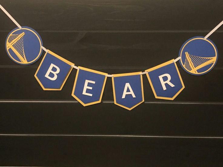Golden State Warriors name banner, dubbs, gsw, warriors, basketball, warriors themed party, warriors birthday