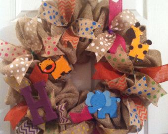 Baby Girl Wreath/ Deco Mesh Wreath/ Baby by Wreaths4u2byPaula