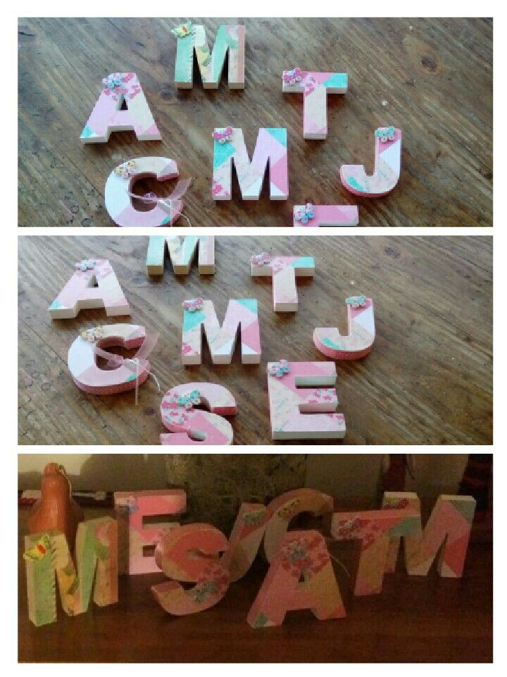 Letras decoradas para sorpresa de cumpleaños