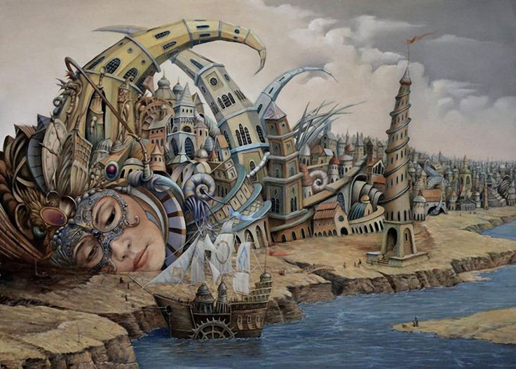 Dream Factory: Surreal Paintings by Tomek Setowski   Faith is Torment   Art and Design Blog