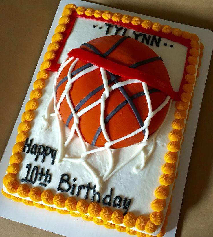 Basketball Cake Base Is 1 2 Sheet Cake Basketballcakes