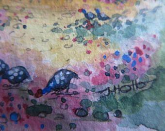 Miniature Painting//Miniature Cottage Painting, - Edit Listing - Etsy