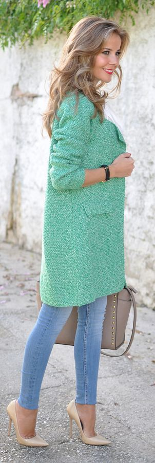 Light Green Boucle like!                                                                                                                                                                                 More
