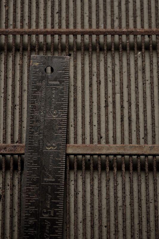 Vintage Metal Ruler