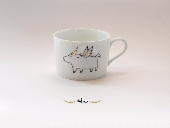 teacup unicorn by Sobigraphie on Etsy