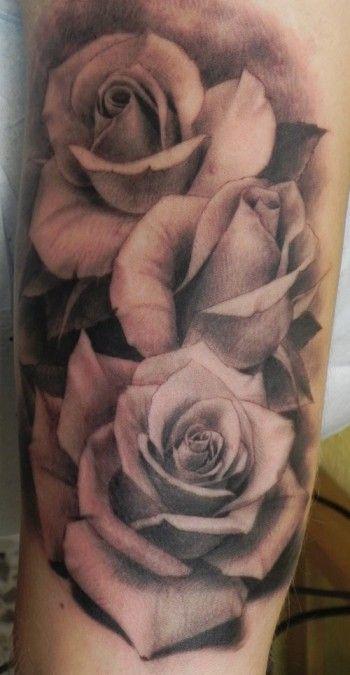 Tatuaje de bonitas rosas