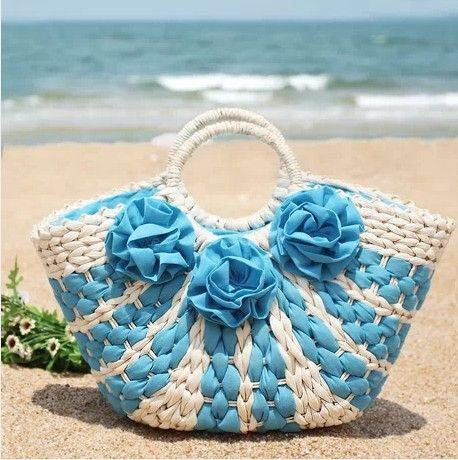 Fashion woman straw handbag 2014 hot sell straw beach bags Woman straw handbags free shipping $25.00