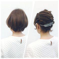 「簡単!真似したくなるショートヘアアレンジ♡」に含まれるinstagramの画像 MERY [メリー]