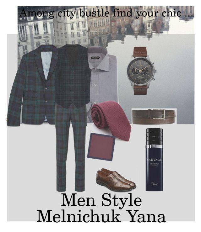 """Classic"" by melnichuk-yana on Polyvore featuring Tom Ford, Gucci, Topman, Triwa, Magnanni, Allen Edmonds, Christian Dior, men's fashion и menswear"