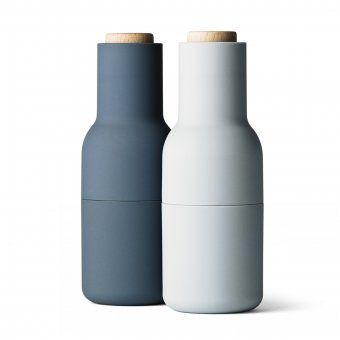 Menu Pfeffer- & Salzmühle Bottle Grinder-Set small blue | Menu Design Shop