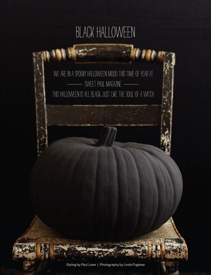 flat black pumpkin