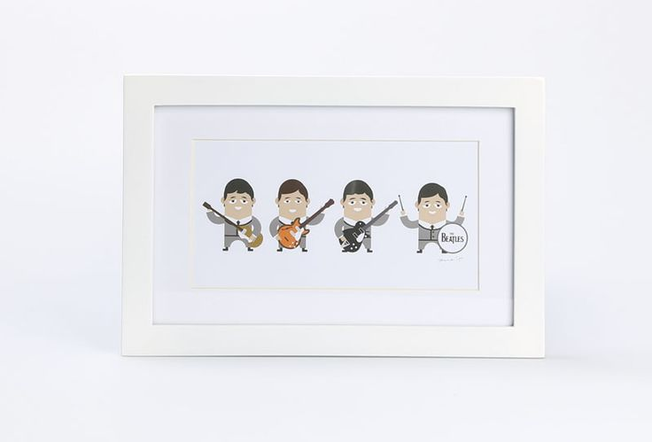 Beatles 63 by Skola. A interesting painting made from digital printing with figure of Beatles caricature. It features string at the back and also frame crafted from wood with size dimension; 30cm x 20cm and also the painting has size dimension; 20cm x 11cm.  http://www.zocko.com/z/JKYJH