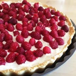 Malinowa tarta z mascarpone