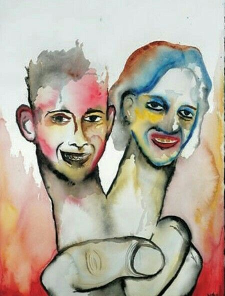Marilyn Manson painting of Eric & Dylan