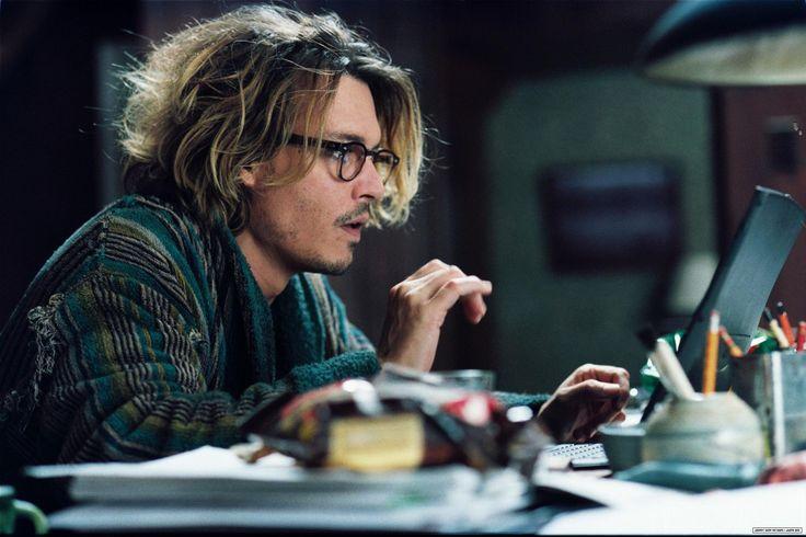 """Johnny Depp writing away in """"Secret Window"""" ~ Is it his best movie? No. But it is Johnny Depp...in a robe."""