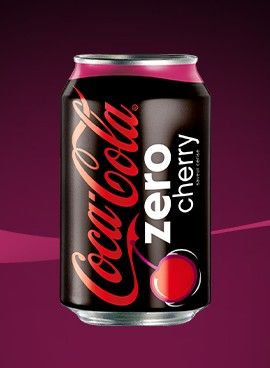 Cannette Coca-Cola zero cherry DOn'e tlike this stuff, but the can is nice. Give me Classic Coke any day!