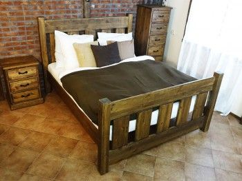 Dřevěná postel Rustyk / Mieszko 140