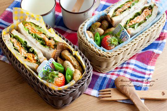 サンドイッチ★バスケットランチボックス♪ |あ~るママオフィシャルブログ「毎日がお弁当日和♪」Powered by Ameba