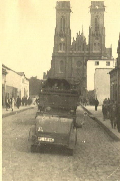 German Troops in the Ghetto.