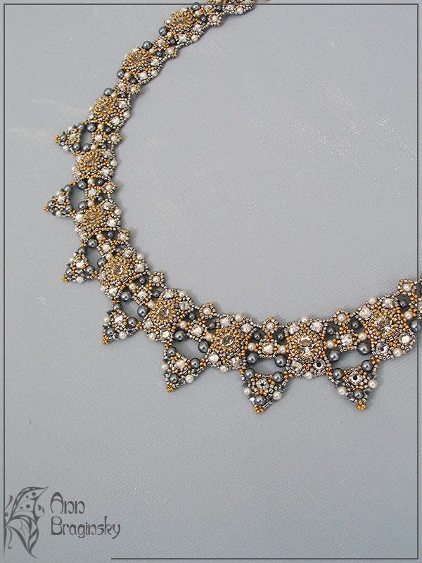 """Necklace """"Orly"""". """"Or"""" is translated from Hebrew as """"light"""". """"Orly"""" can be translated as """"light to me"""" or """"my light"""". A bright, classic and delicate necklace - Ann Braginsky."""