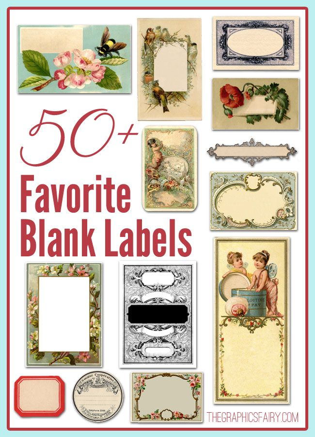 50+ Favorite Blank Labels - The Graphics Fairy