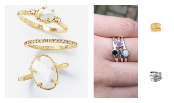 Affordable accessorizing: stack rings under $100
