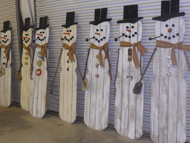 Les 25 meilleures id es de la cat gorie bonhommes de neige en bois sur pinterest id es - Bonhomme de neige en bois ...