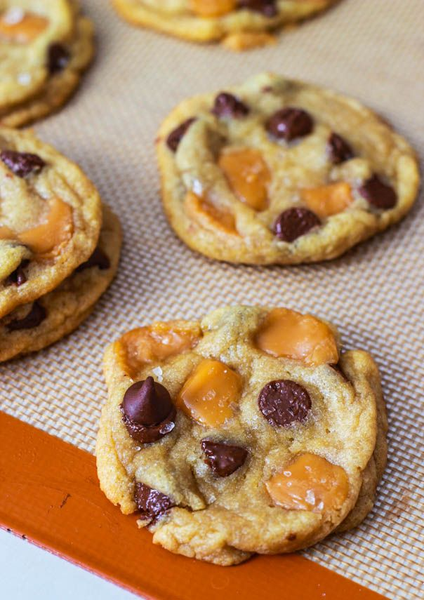 Salted Caramel Chocolate Chip Cookies @Emily Schoenfeld Sobecki