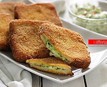 Zucchine cremose in carrozza, finger food