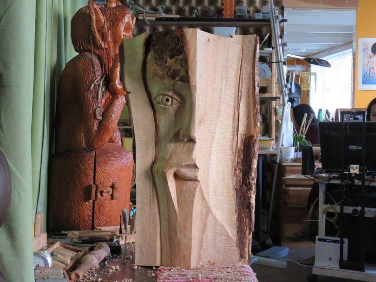 Wood carving by Juris Rudzitis