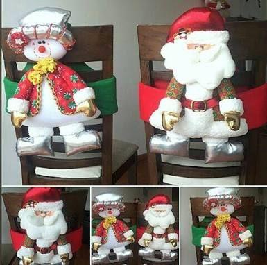 Resultado de imagen para navidad manualidades cubre sillas pinterest