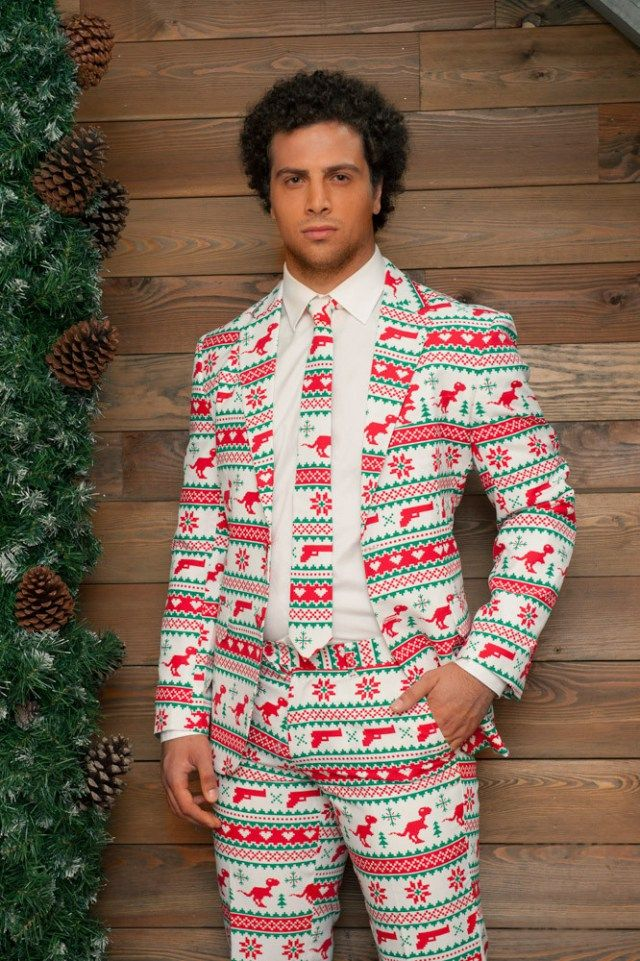 Why Wear An Ugly Christmas Sweater When You Can Wear One Of These Ugly Christmas Suits?