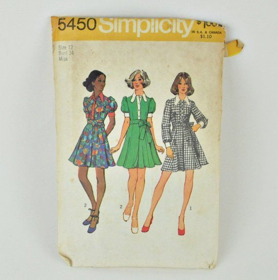"""Antique Doll Pattern 16/"""" ~ Dropped Waist Dress ~ Vtg early 1900s"""