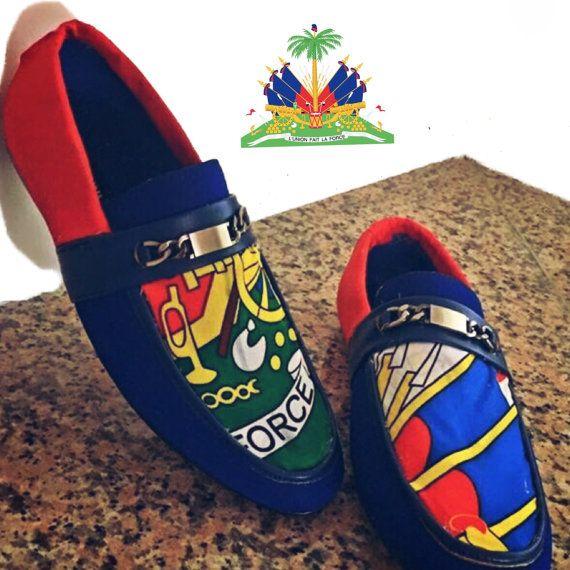 Haitian flag shoes