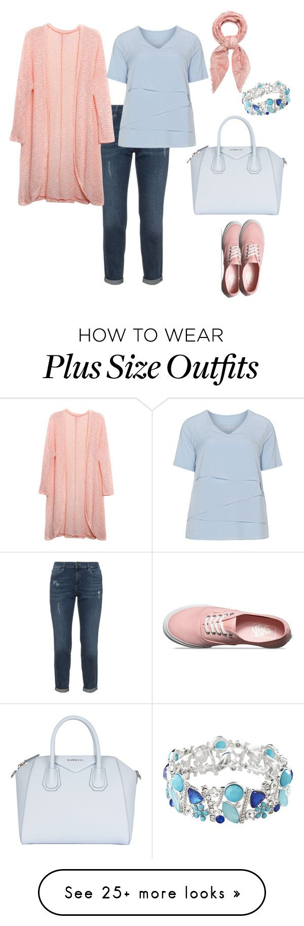 """plus size"" by irinairina745 on Polyvore featuring Relaxfeel, Avenue, Samoon, Vans, Givenchy and Fraas"