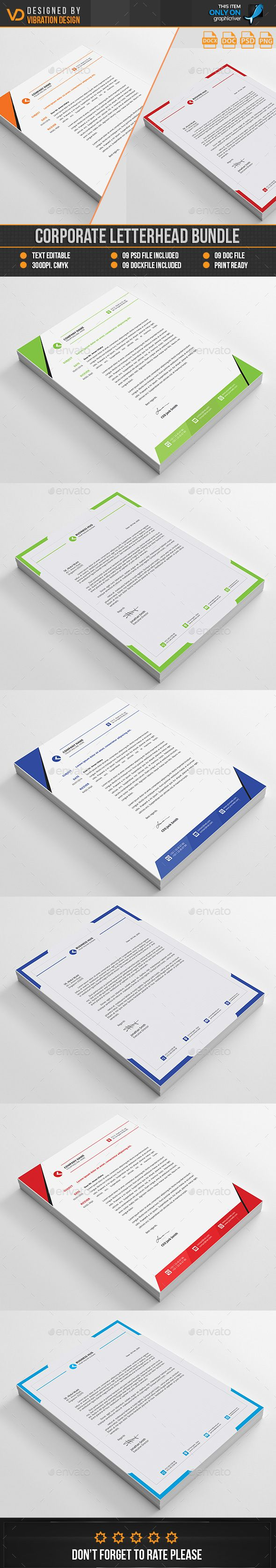 80 best letterheads print template images on pinterest print corporate letterhead bundle by kawsarnshimo spiritdancerdesigns Choice Image
